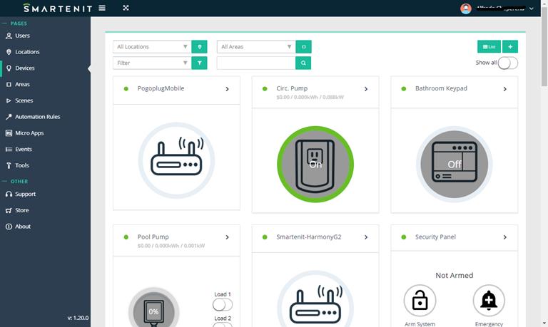 Smartenit Webapp Device View