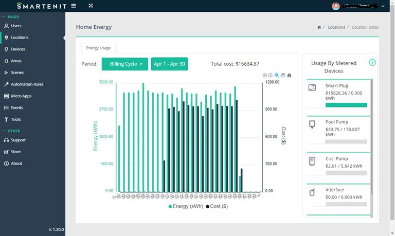 Smartenit Webapp Home Energy Use