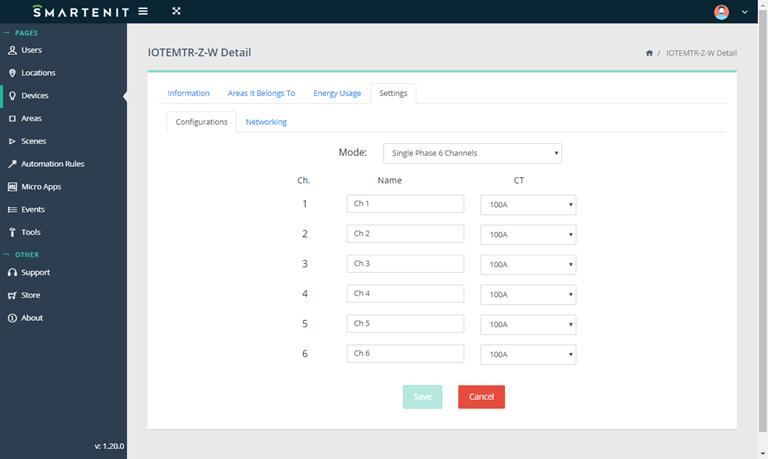 Smartenit IoTeMtr Webapp Setup